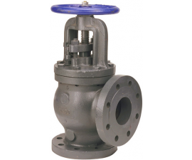 Angle Valve – Steam Stop-Check, Cast Iron